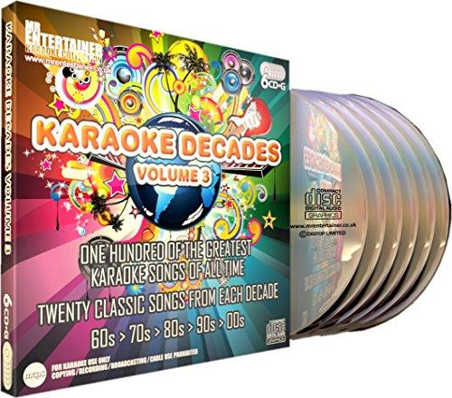 Mr Entertainer Karaoke Decades Volume 3 - 100 Song 6 Disc CD+G (CDG) Pack