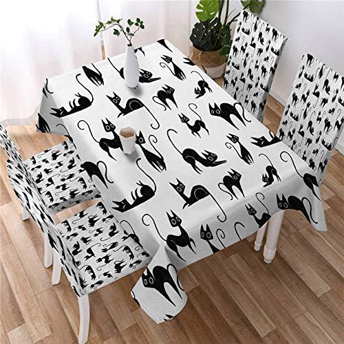 Mantel De Gatos De Dibujos Animados Mantel Impermeable