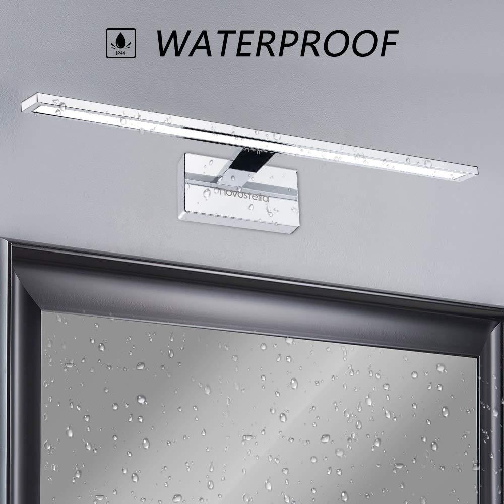 Luce Specchio Bagno Led.10w Luce Specchio Bagno Novostella 750lm Led Alluminio