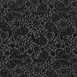 Fabulous Fabrics Futterstoff Jacquard Paisley – schwarz