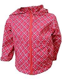 Outburst - Baby Mädchen Softshelljacke gefüttert Regenjacke Winddicht und Wasserabweisend gemustert, pink
