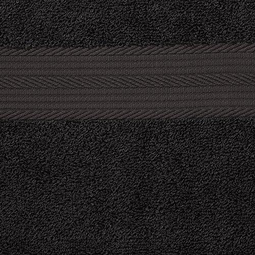Handtuch Schwarz – Set 2 Badetücher & 4 Handtücher - 5