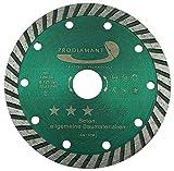 Disco de corte diamante hormigón / materiales comunes de construcción - 125 x 22,23 mm