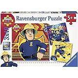 Ravensburger 93861 - Feuerwehrmann Sam Puzzle, 3 x 49 Teile Puzzle