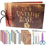 Albus Store bricolage photo Album Scrapbook Notre livre d'aventure avec couverture en cuir pour diverses photos de taille Mariage anniversaire couples famille amis Graduation mémoire de voyage