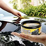 Yiwa Cera per Auto,Cura auto e moto,Cere solide,Set per levigatura e lucidatura,Car Auto Care Repair Wax Clean Wash Lucido Strato Impermeabile Strato Vernice Scratch Removal Cera (nera)