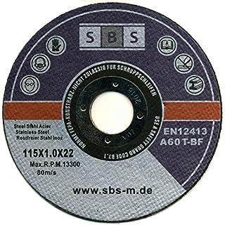 SBS 50Stück Schruppscheiben (Edelstahl, 50Stück, 115x 1mm)