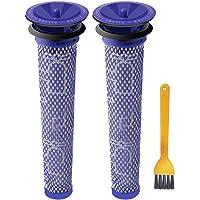 ABC life Washable Pre Motor Stick Filters Dyson DC58 DC59 DC61 DC62 V6 V7 V8 Animal Vacuum Cleaner (Pack of 2)