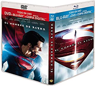El Hombre De Acero (BD + DVD + Copia Digital) [Blu-ray] (B00DSL82KI) | Amazon price tracker / tracking, Amazon price history charts, Amazon price watches, Amazon price drop alerts