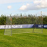 12 x 6 FORZA Steel42 Football Goal – [The Strongest Portable Steel Goal Post & Net Package with Football Goal Target Training Sheet]