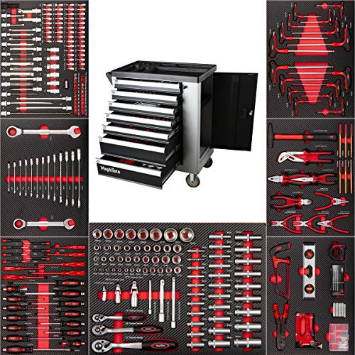 No. 1 Premium Werkzeugwagen mit 7 Schubladen inkl. Werkzeug