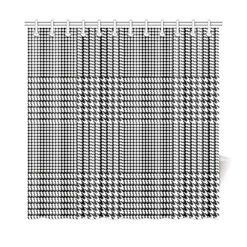 Hahnentritt-bad (QuqUshop Wohnkultur Bad Vorhang Hahnentritt Geometric Print Polyester Stoff wasserdicht Duschvorhang für Badezimmer, 72 x 72 Zoll Duschvorhang Haken enthalten)