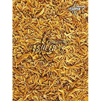 2 Pack Koi Pond Food Treat Dried Silkworm and Large River Shrimp Turtle Terrapin