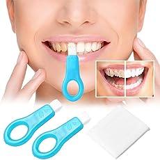 Pro Nano Zahnaufhellung Kit, KOBWA Non-Peroxid Nano Zähne Aufhellung Streifen zahnflecken Entferner Teeth Whitening Kit (2 Griffe 5 Streifen)
