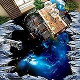 Vitila Boden Aufkleber Wohnkultur Wohnzimmer Wandaufkleber Schlafzimmer Badezimmer Wandmalereien Kreative Persönlichkeit 3D Aufkleber Sternen Schwarze Loch Selbstklebende Plakate Pvc Abnehmbare Tapete
