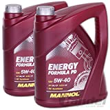 2X MANNOL MN7913-5 Energy Formula PD 5W-40 Motoröl API SN/SM/CF 5L