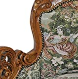 Casa Padrino Barock Chaiselongue Gobelin Muster / Braun – Antik Stil Möbel Lounge Liege Recamiere - 3