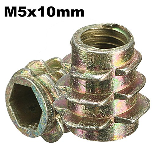 RanDal 5Pcs M5X10Mm Tornillo De Accionamiento Hexagonal En Inserto Roscado Para Tipo...