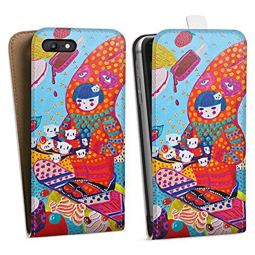 Apple iPhone X Silikon Hülle Case Schutzhülle Hase Süßigkeiten Mädchen Downflip Tasche weiß