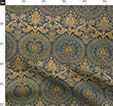 Damast, Wandteppich, Blau, Paisley, Gold, Persisch,