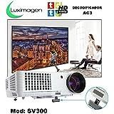 proyector barato Luximagen SV300 con TDT, USB, HDMI, VGA, AC3, 2 años de garantía