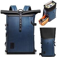 K&F Concept Kamerarucksack Rolltop Fotorucksack Wasserdicht für Spiegelreflexkamera Canon Nikon Sony Fujifilm Olympus…