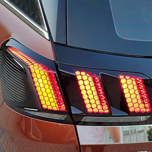 HIGH FLYING PG 3008 5008 GT 2017 2018 EXTERIEUR Rücklichter Aufkleber 1 Stück Kunststoff (Peugeot 5008 2017 2018)