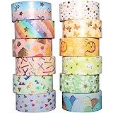 Yubbaex Washi Tape Set di nastri decorativi per fai da te, diario proiettile, artigianato, confezioni regalo, scrapbooking, 1