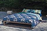 Bassetti Granfoulard.- Bettwäsche Loto V3 blau 240x220 + Bettlaken 240x270 + 2 kissenbezug 50x80 cm in