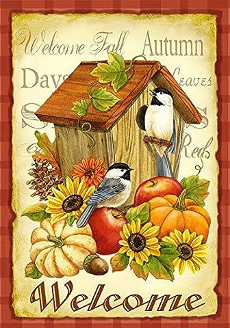 Toland Home Garden Oiseaux d'automne, Garden Flag, Orange, 31,75 x 45,72 x 0,1 cm, , , 112503