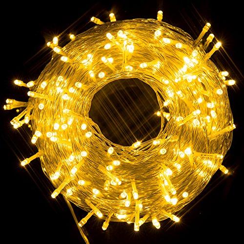hterkette mit 250 LED-Lämpchen, Hohe Qualität, 8 Lichteffekte, Innen und Außen, Wasserdicht, Dekoration für Party, Garten, Weihnachten, Halloween, Hochzeit (Warmweiß) (Halloween Dekoration Außen)