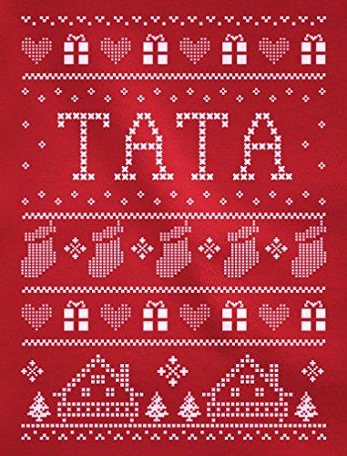 Green Turtle T-Shirts Impression de Noël Tata Tante haut décliné famille T-shirt Manches longues Femme Bleu