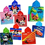 Unbekannt Kapuzenhandtuch / Badeponcho -  Disney Mickey Mouse  - incl. Name - 100 % Baumwolle - 50 cm * 105 cm - 2 bis 6 Jahre Poncho - mit Kapuze - Frottee / Velours..