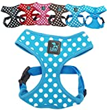 LSW Pet Design Dog Harness for Small Dogs, for zieht–Breathable Cotton Spot Pattern–Choice Of Colours And Sizes, Blue, Small