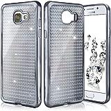 Shiny Case pour Samsung Galaxy A3 (2016) | Etui en silicone transparent avec effet métallique et brillant retour | Thin Sac de protection cellulaire OneFlow | Backcover en Anthracite-Grey