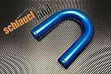 Alu-Bogen 180° AD 90mm BLAU ***** auch in ROT oder SCHWARZ *** Alubogen Alurohr Rohrbogen pipe Turbo Ladeluftkühler