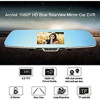 anytek 1080P HD Blu Specchietto retrovisore auto