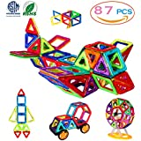 MANVE Magnetic Blocks Building Toys Set, Magnetic Tiles, Educational Toys For Baby/Kids 87Pcs Deluxe Set