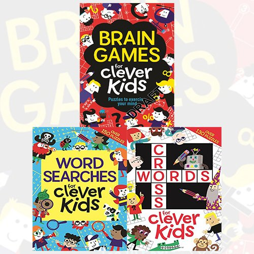 Gareth Moore Clever Kids 3 Books Bundle Collection (Brain Games for Clever Kids, Wordsearches for Clever Kids, Crosswords for Clever Kids)
