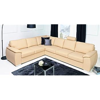 Design Luxus Lounge Sofa Landschaft Couch Polster Garnitur Leder Rot