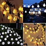 from OxyLED Solar String Lights, OxyLED 30 LED Garden Patio Outside String Lights,Waterproof Indoor/Outdoor String Lights, Great Garden Terrace Patio Outside Xmas lights(Ambiance Light) Model SL50