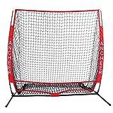 AIMADO 5 x 5 piedi Rete di Allenamento Baseball Softball Robusto e Conveniente con Borsa