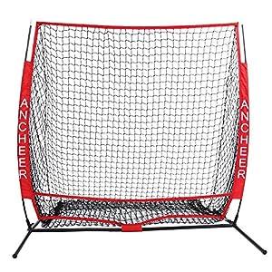 Minilism Trainingsnetz Baseball Übungsnetz Pitching Netz Rot 152 x 152 cm