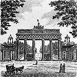 Einfarbige original Radierung Berlin, Brandenburger Tor von Sommer als loses Blatt, Graphik, kein Kunstdruck, kein Leinwandbild