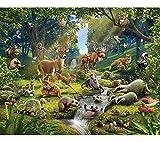 Walltastic Animali della Foresta Carta da Parati Murale, Carta,, 52.5x7x18 cm