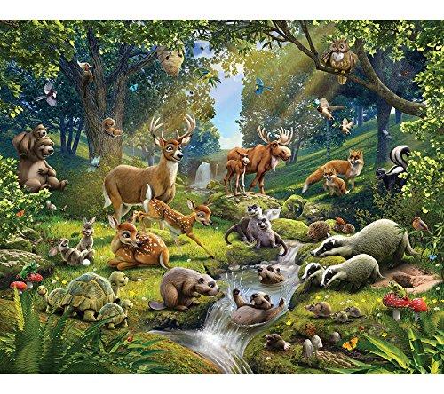 *Walltastic 43060 Tiere des Waldes, Tapete, Wandbild, Paper, Bunt, 52,5 x 7 x 18,5 cm*