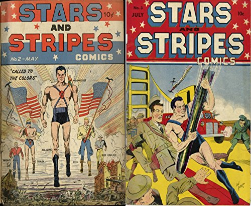 Stars and Stripes comics. Issues 2 and 3. Features called to the doctors. Includes Mini midget, amazing man, the shark, reef kincaid and iron skull. Golden ... digital comics superheroes and Heroines.