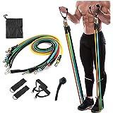 N V Enterprise Resistance Exercise Bands with Door Anchor, Handles, Waterproof Carry Bag, Legs Ankle Straps for Resistance Tr