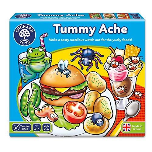 Orchard Toys - Gioco da tavola educativo 'Tummy Ache' (Mal di pancia), lingua inglese, istruzioni in italiano incluse, 3-7 anni