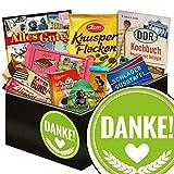 Produkt-Bild: Danke ?? DDR Korb Schokolade ?? Schokoladen Geschenkset M in edler schwarzer Geschenkbox ?? Mokka Bohnen, Puffreis Argenta, Zetti Knusperflocken ??